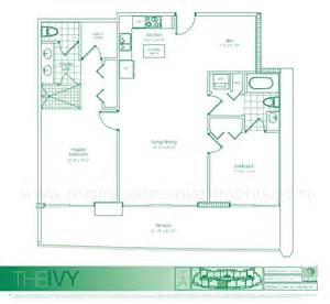 The Ivy Floor Plans by The Ivy Floor Plans For Condos In Miami