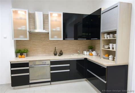 Pictures Of Kitchens Modern Black Kitchen Cabinets Modern Kitchen Cabinet Design