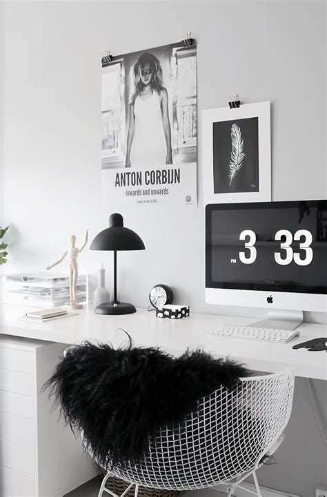 black white home decor new office in 1 2 3 stylizimo