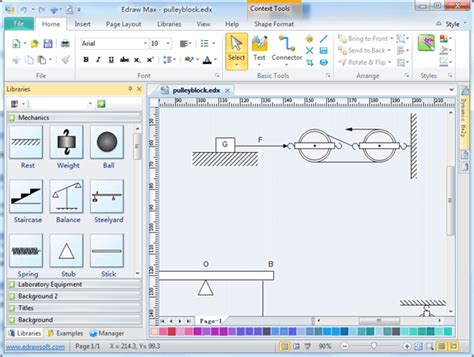 free scientific drawing software physical mechanics diagram software free exles and