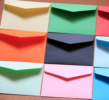 small envelopes for new year 200pcs lot 115 80mm new vintage color series