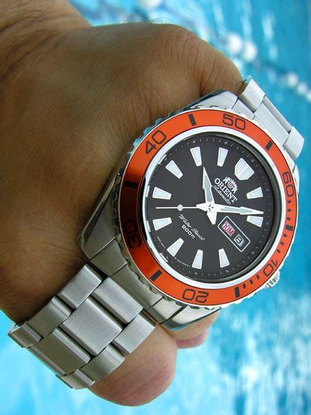 Orient Mako XL 21 Jewel Automatic Dive Watch with Orange Bezel #CEM75004B