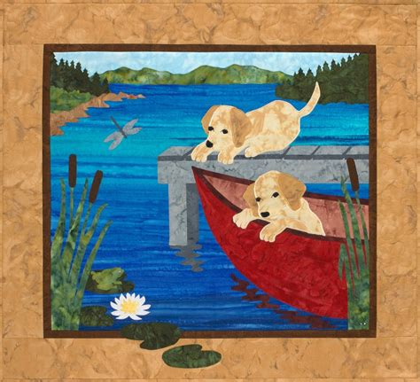 canoe puppies puppy canoe quilt pattern