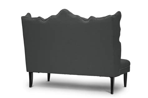grey banquette bench witherby gray linen modern banquette bench affordable modern furniture in chicago