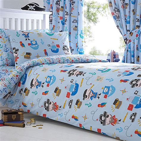 pirate comforter sets bluezoo kids blue pirates duvet cover and pillow case