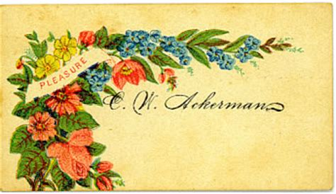 19th century calling card templates 19th century calling cards from hounsfield ny