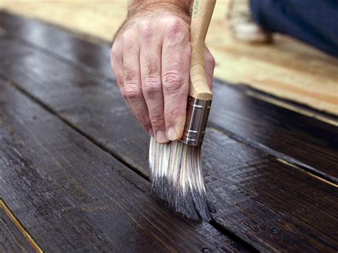 How to Stain a Wooden Deck   HGTV