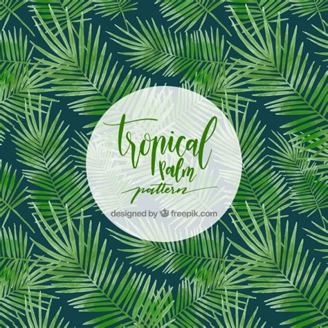 palm leaf pattern vector tropical palm tree pattern vector free download