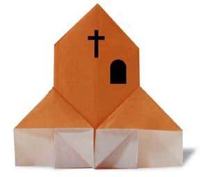 Religious Origami - origami church