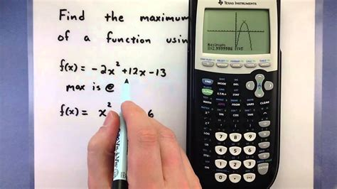 How To Find Local On Pre Calculus How To Find The Maximum Or Minimum Of A