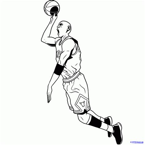 nba trophy coloring pages step 19 how to draw michael jordan