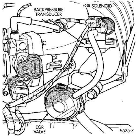 where is the egr valve located on a 1998 plymouth grand
