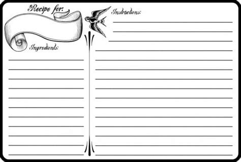real simple recipe card template top 5 resources to get free recipe card templates word