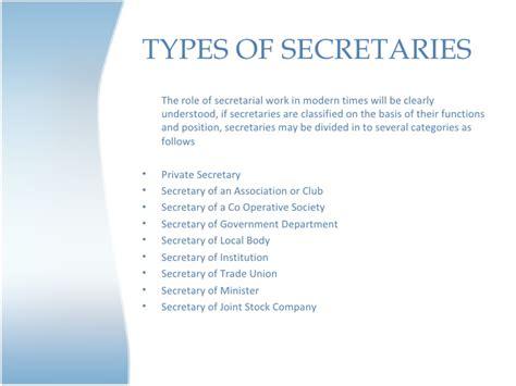 what is a secretary secretarial communication