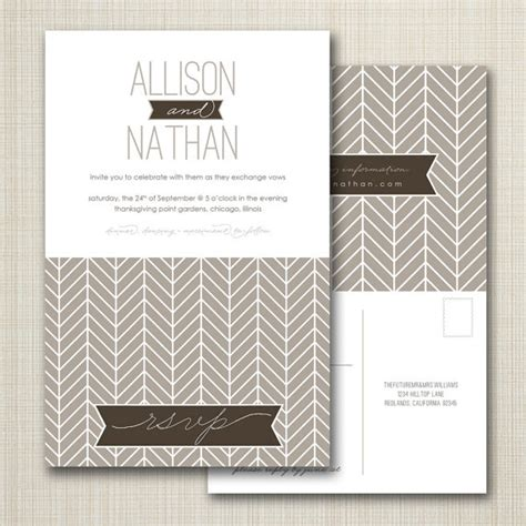 wedding invitations with perforated postcard response cards wedding invitation with perforated rsvp postcard by westwillow