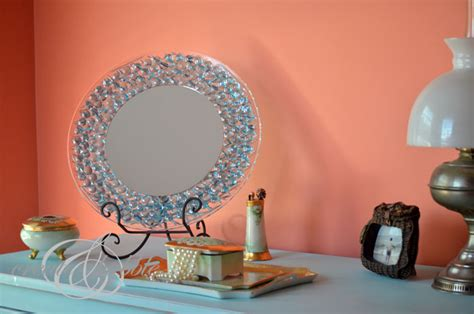 Diy Dollar Tree Home Decor Glass Gem Mirror A Little Craft In Your Day