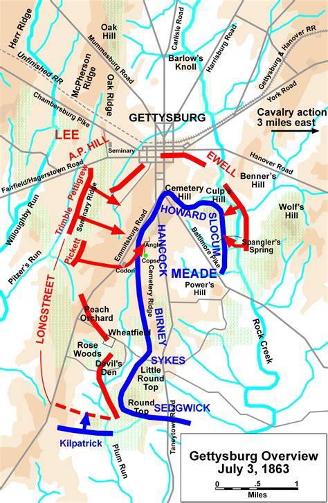 gettysburg map silvae gettysburg pennsylvania