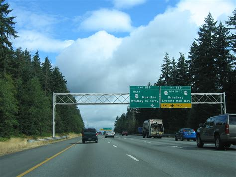 Interstate 5 North - Snohomish County - AARoads - Washington I 5 Exit 71 In Washington State