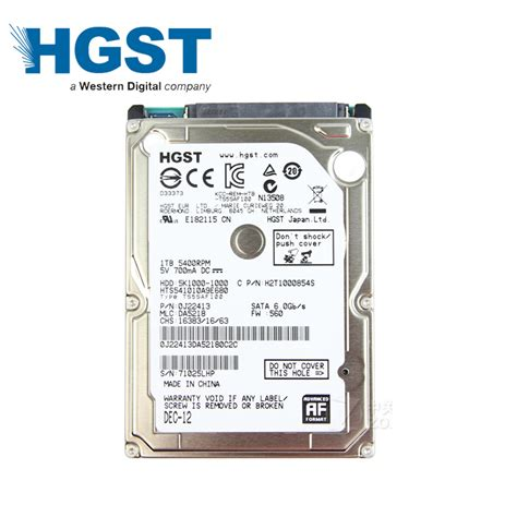 Hardisk Hgst 500gb hgst 1tb 1000gb hdd laptop notebook disk drive 1000g hd sata3 sata iii 5400rpm 8m 2 5 us71