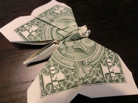 Origami Money Butterfly - butterfly money origami animal insect vincent the artist
