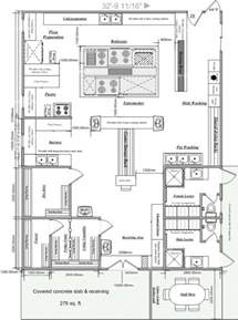 Free Kitchen Design Layout Blueprints Of Restaurant Kitchen Designs