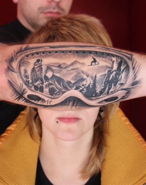 ski tattoo design list of best snowboard ski surf skateboard tattoos 2014