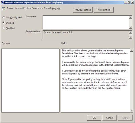 internet explorer search box hotfix ie 8 restores the search provider settings when