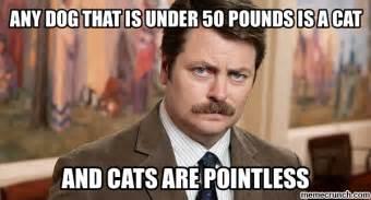 dogs 50 pounds swanson meme