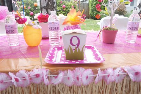 9 year old girl birthday party ideas netmumscom hawaiian party birthday party ideas photo 1 of 25