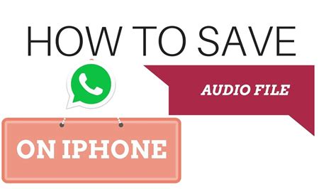 audio format on iphone how to save whatsapp audio file in iphone 8 2017 youtube