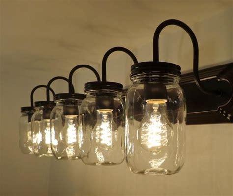 jar bathroom light best 25 rustic light fixtures ideas on