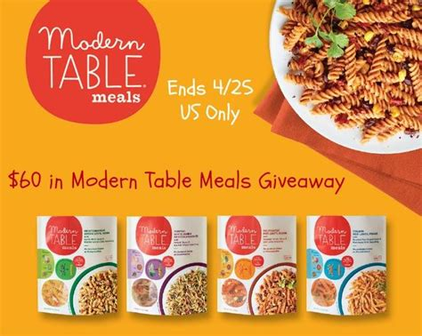 win modern table meals 60 arv us only ends 4 25
