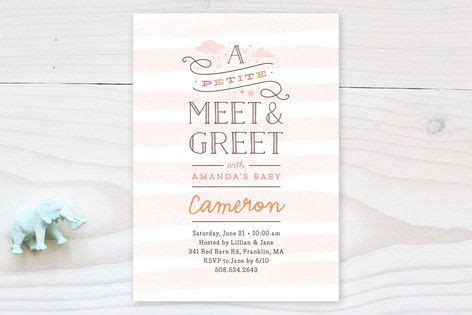 Meet And Greet Baby Shower Ideas by Meet Greet Baby Shower Invitations By