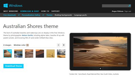 microsoft themes gallery microsoft expands windows 8 theme selection lifehacker