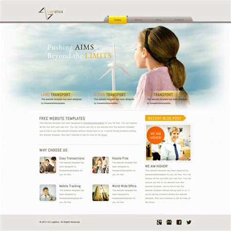 Logistics Website Template Free Website Templates Logistics Website Template