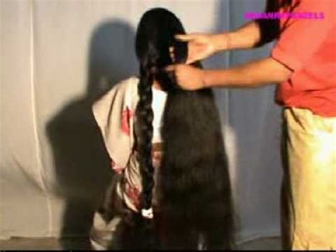 Hair To Play Right Now by Indianrapunzels Knee Length Hair Play 2