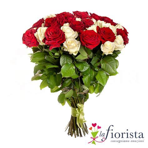 rosse fiori foto vendita mazzo di rosse e bianche consegna fiori
