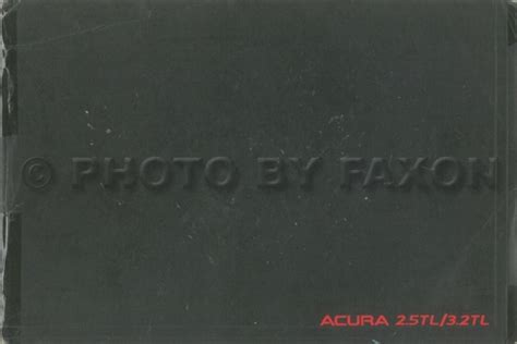 1996 acura tl owners manual original 2 5tl 3 2tl graciela leone