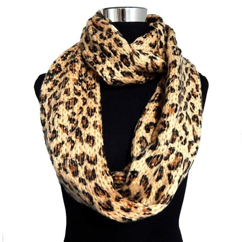 5 colors acrylic warm thick knitted leopard print