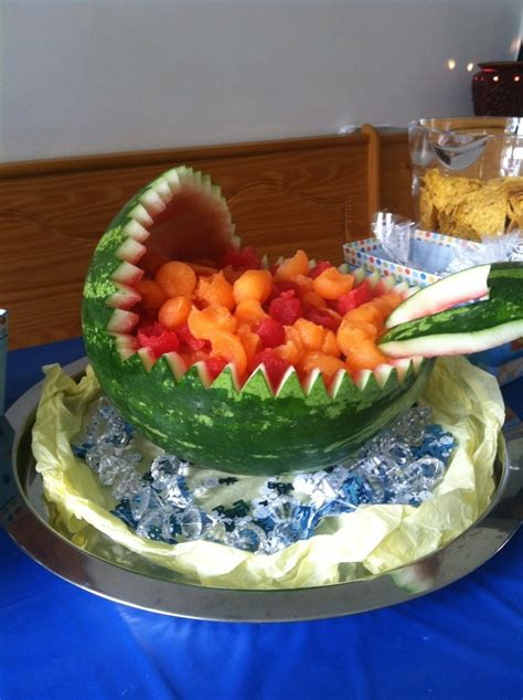 Baby Shower Fruit Watermelon by Watermelon Baby Carriage Fruit Bowl Blogging Secrets