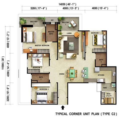 1 Desa Residence Floor Plan by Reflections Condominium Penang Property Talk