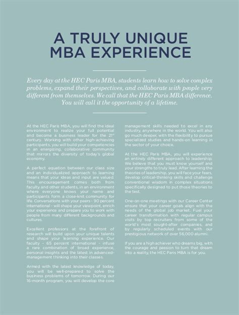 Best Educational Experience For Mba by Hippie Exe Brochure Mba Digital