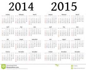 2014 calendar template australia calendario para 2014 y 2015 en vector imagenes de archivo