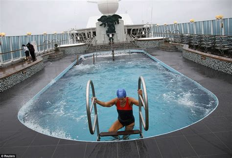 titanic film pool titanic cruise is delayed by 30ft waves memorial journey