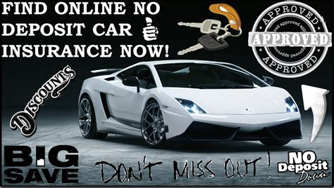 Cheap No Deposit Car Insurance Policy, Low Deposit, Zero