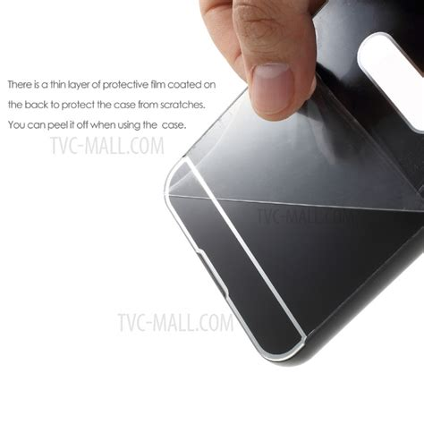 Mirror For Zenfone 3 Silver metal bumper sliding mirror like pc plating back cover