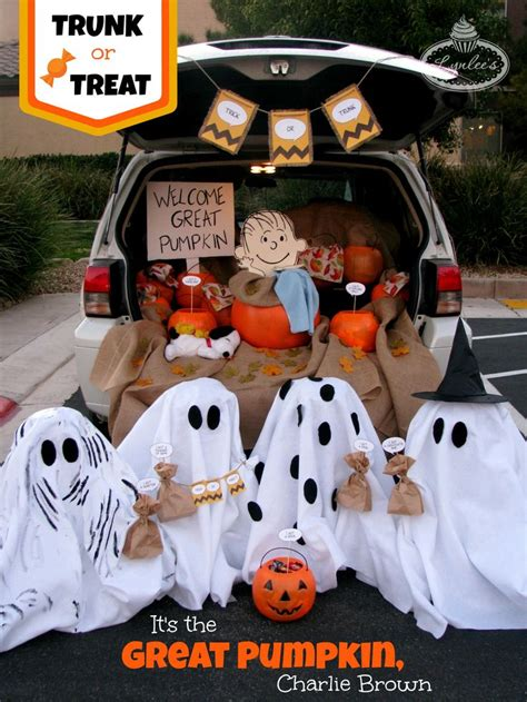 halloween tailgate themes trunk or treat it s the great pumpkin charlie brown