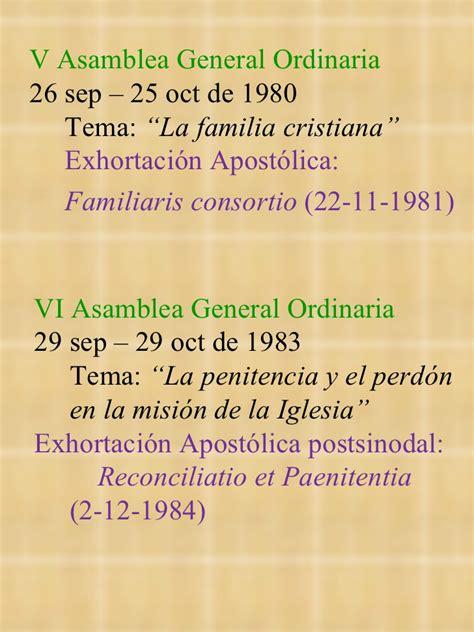familiaris consortio 22 de noviembre de 1981 sinodo informacion general 2012