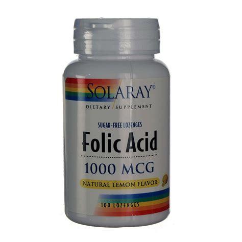Mcg For Methhet Detox Of Folate Supplements by Buy Solaray Folic Acid Lemon 100 Lozenges Evitamins