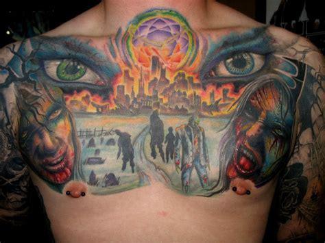 zombie tattoo prices zombie apocolypse chest tattoo by jasonrhodekill on deviantart